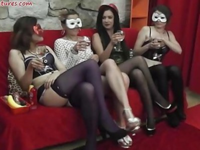 Ladies party turns into wild lesbian orgy