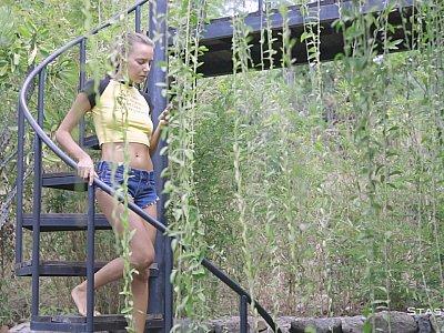Katya Clover Struts Her Petite Body For The Camera