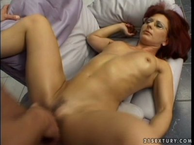 Redhead mom Lavinia gets nailed brutally from behind