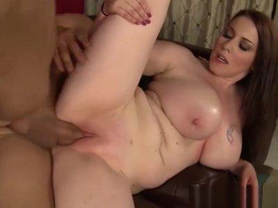 WANKZ- Desiree Massages Client With Big Boobs