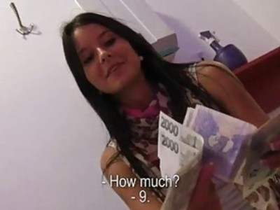 Sexy Eurobabe Mia Manarote fuck for cash