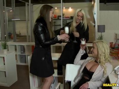 Lesbian Office Play
