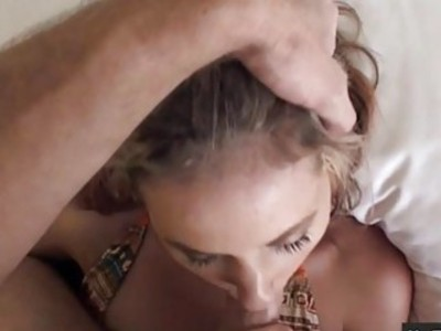 Skinny gf Tysen Rich tries out anal sex and caught on camera