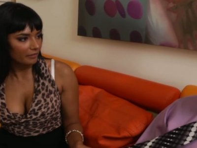 Stunning Indian business lady sucks her coworker's white dick