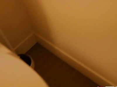 Elsa Jean blowjobs step bro and gets fuck hard in the bathroom