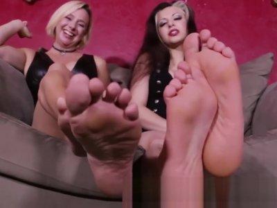 Goddess Brianna and friend soles