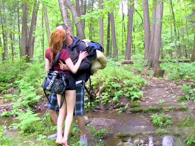 Lovely French Couple Hike 'n Sex