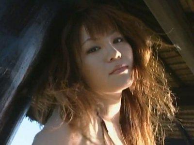 Too sexy chick Yoko Matsugane is proud of her big appetizing boobs