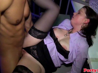 Chubby girl fucked in the club