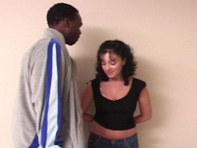Scared female admirers his swollen zipper