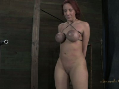 immobilized brunette Kelly Divine gets fucked mish rough in BDSM way