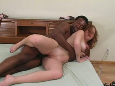 Beautiful white chick Cherry Poppens getting pounded by black man
