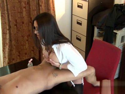 Bitchy Boss Tit Wank Video